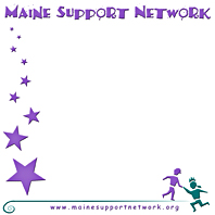 Maine Support Network Sticky Note
